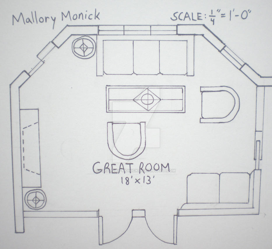 Great room floor plan by mallory monick on deviantart for What is a great room floor plan