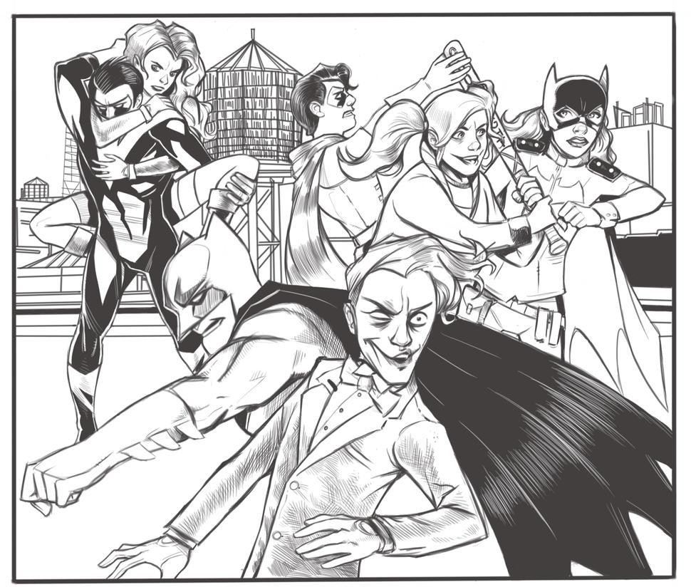 Batman pg4-5 by kennf11