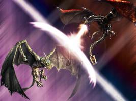 Dragon Fight by Nemo93