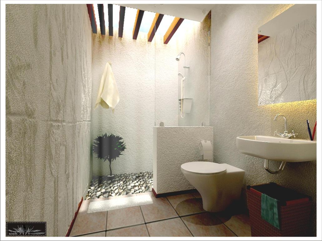 Open air bathroom by siek7171 on deviantart for Open air bathroom designs