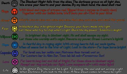 Lantern Corps Oaths by bloodbendingmaster97