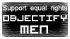 Objectify Men stamp