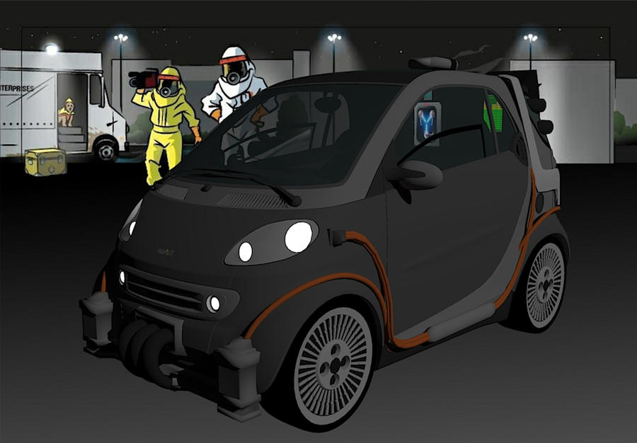 Back to the Future Smart Car 1 by calamitySi