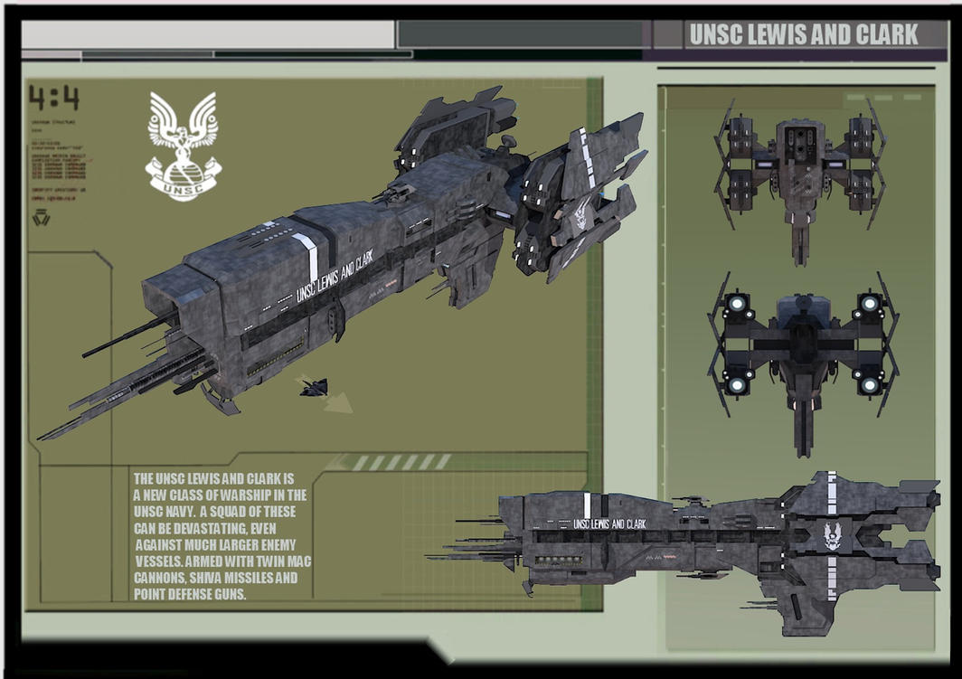 UNSC LIGHT ASSAULT CRUISER: LEWIS AND CLARK by calamitySi