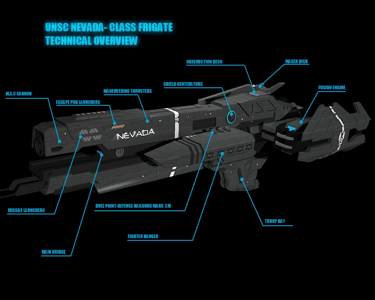 Halo Frigate Nevada- Technical Overview by calamitySi