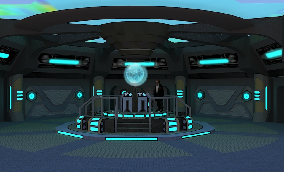 New tardis console room by calamitysi on deviantart for Futuristic control room