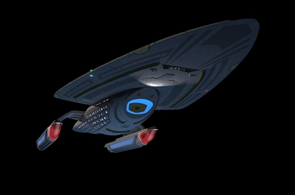 Star Trek Voyager: Intrepid prototype full render by calamitySi