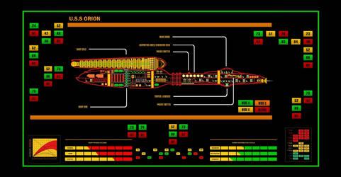 Star Trek TOS Style MSD - U.S.S. Orion by calamitySi