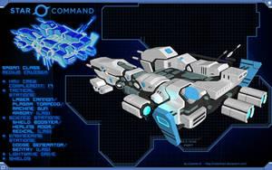 Star Command Sagan Class Medium Cruiser by calamitySi
