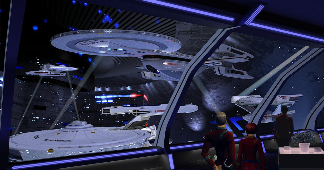 A Spacedock view. by calamitySi
