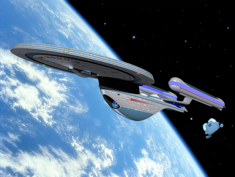Papercraft imprimible y recortable de la nave USS Excelsior NCC-2000 de Star Trek. Manualidades a Raudales.