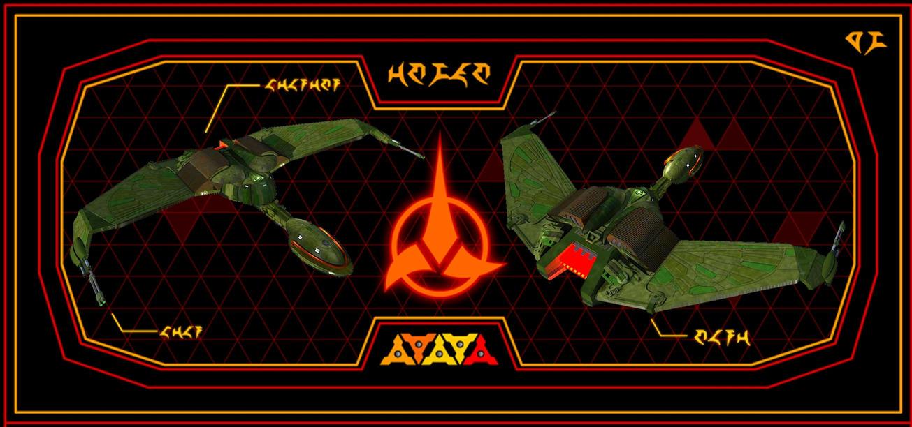 Star Trek Klingon Bird of Prey by calamitySi