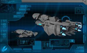 Halo 5 UNSC Frigate Triton: Bridge Console Display by calamitySi