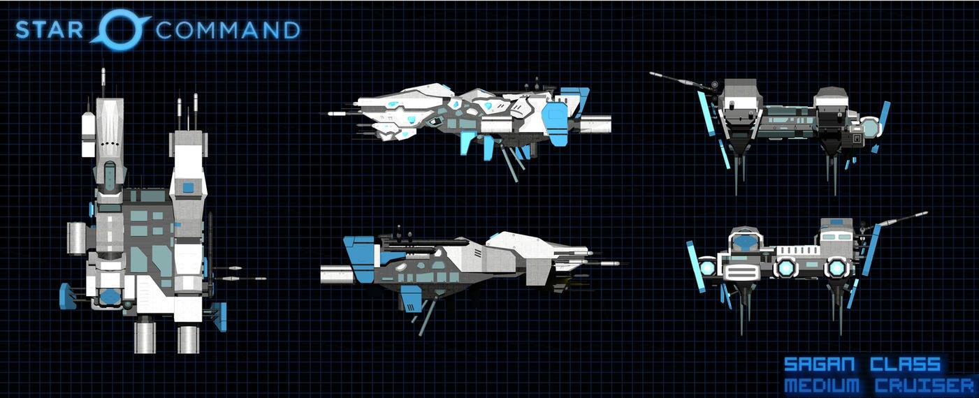 Star Command Sagan Class Medium Cruiser Orthos by calamitySi