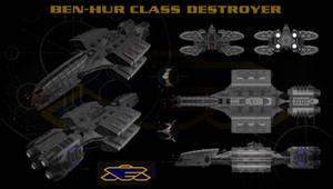 Babylon 5 Earthforce Destroyer EAS Ben-Hur Orthos