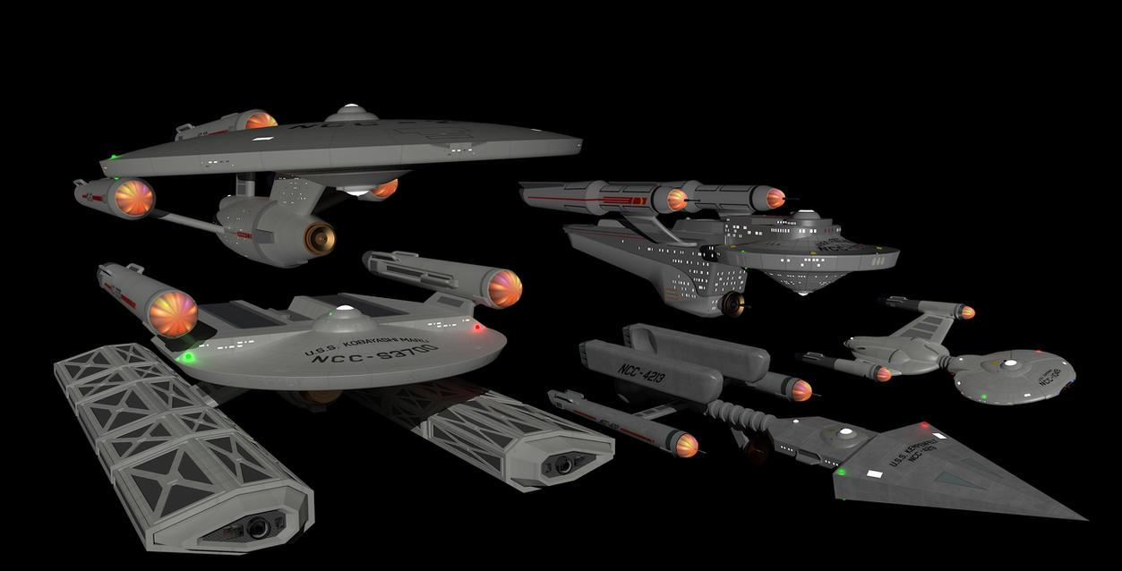 Star Trek TOS fleet by calamitySi