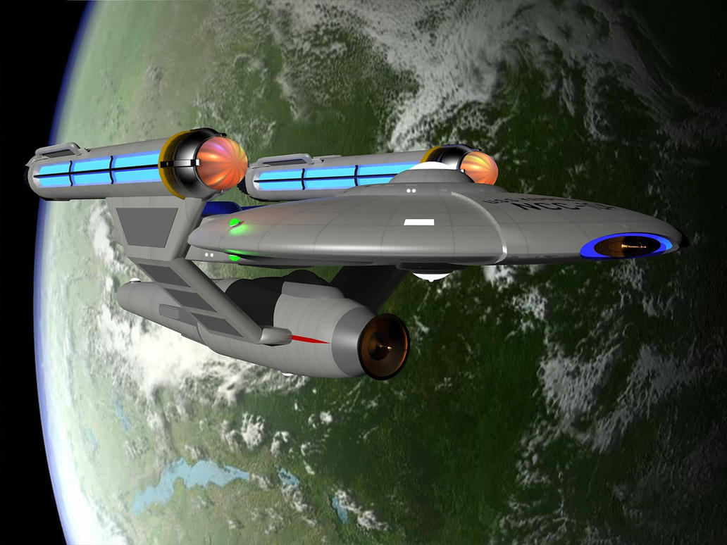 Star Trek TOS Oberth Class Starship by calamitySi