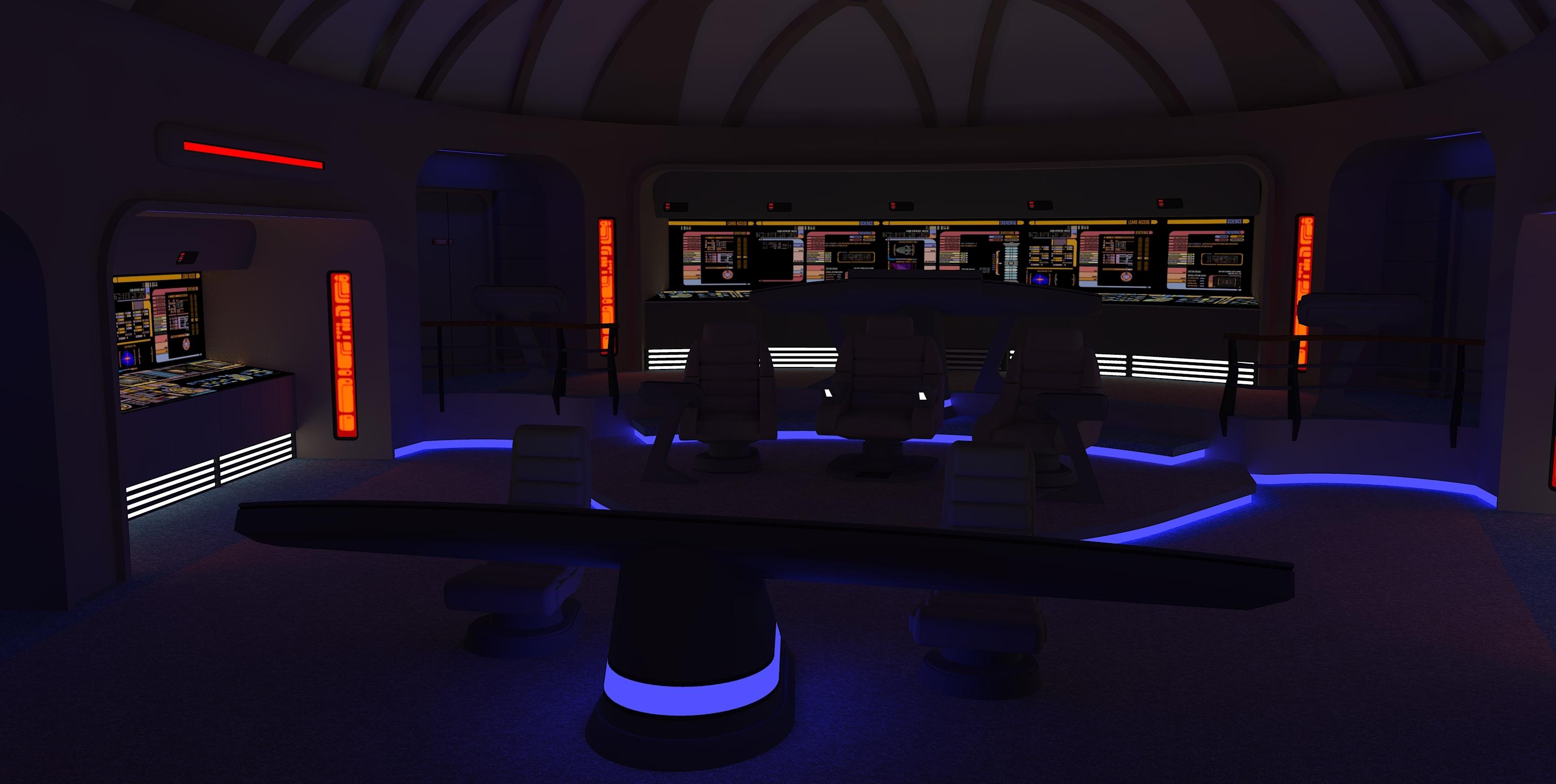 ... Star Trek Bridge Concept 1 Red alert by calamitySi & Star Trek Bridge Concept 1: Red alert by calamitySi on DeviantArt