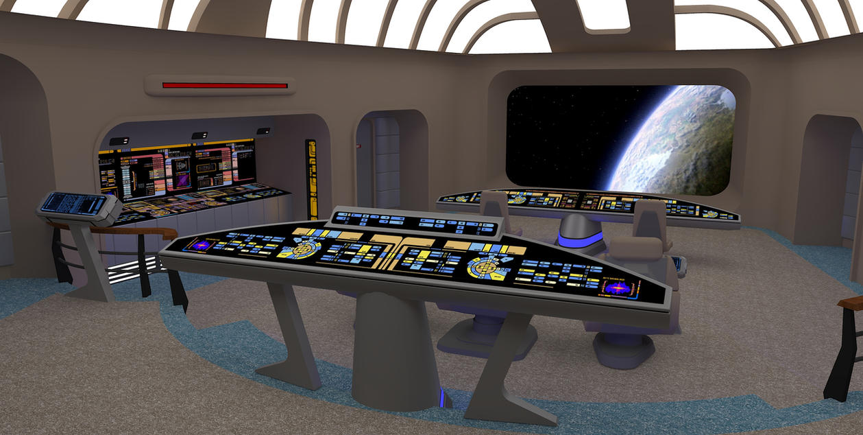 Star Trek Bridge Concept 1: Viewscreen by calamitySi