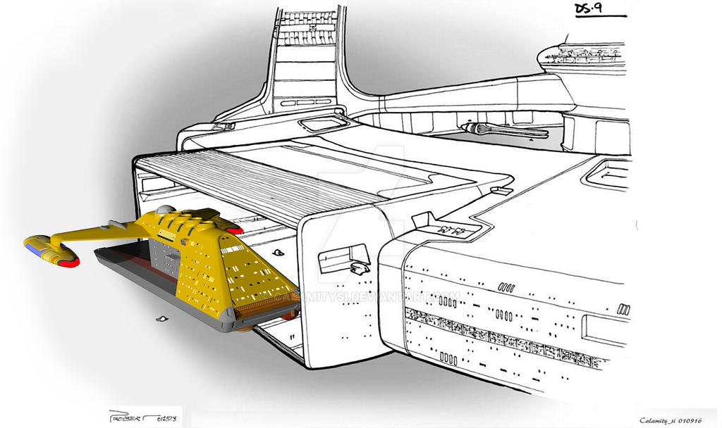 Star Trek 'Probert' Tug at DS9 II by calamitySi