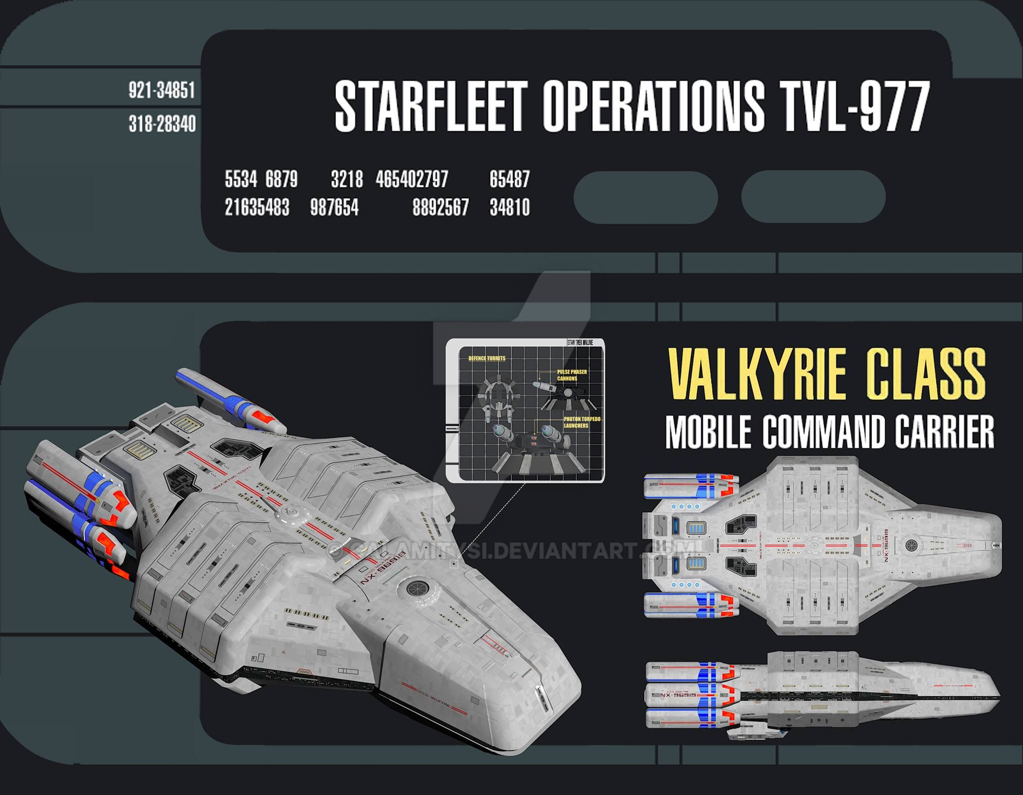 Federation Carrier U.S.S. Valkyrie defense turrets by calamitySi