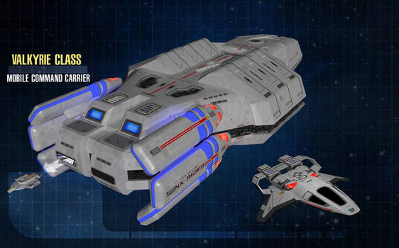 Federation Carrier with Escort and Fighter craft