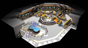 Federation Carrier Starship USS Valkyrie Bridge 3