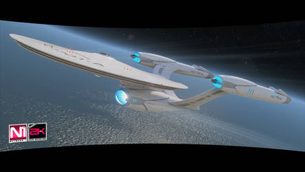 USS Enterprise NCC-1701-A CINEMATIC-FILMS render 1