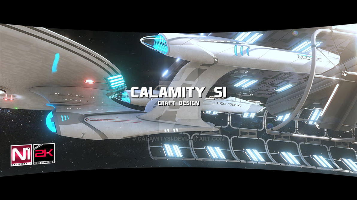 USS Enterprise NCC-1701-A CINEMATIC-FILMS render 3 by calamitySi