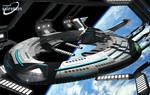 USS Enterprise, NCC 1701- G in Spacedock