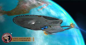 U.S.S. Voyager NCC-74656-A in orbit
