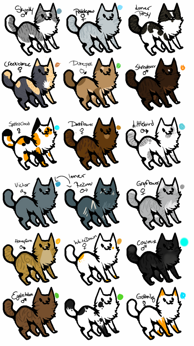 Character Design Ideas Generator : All warrior cats characters pictures to pin on pinterest