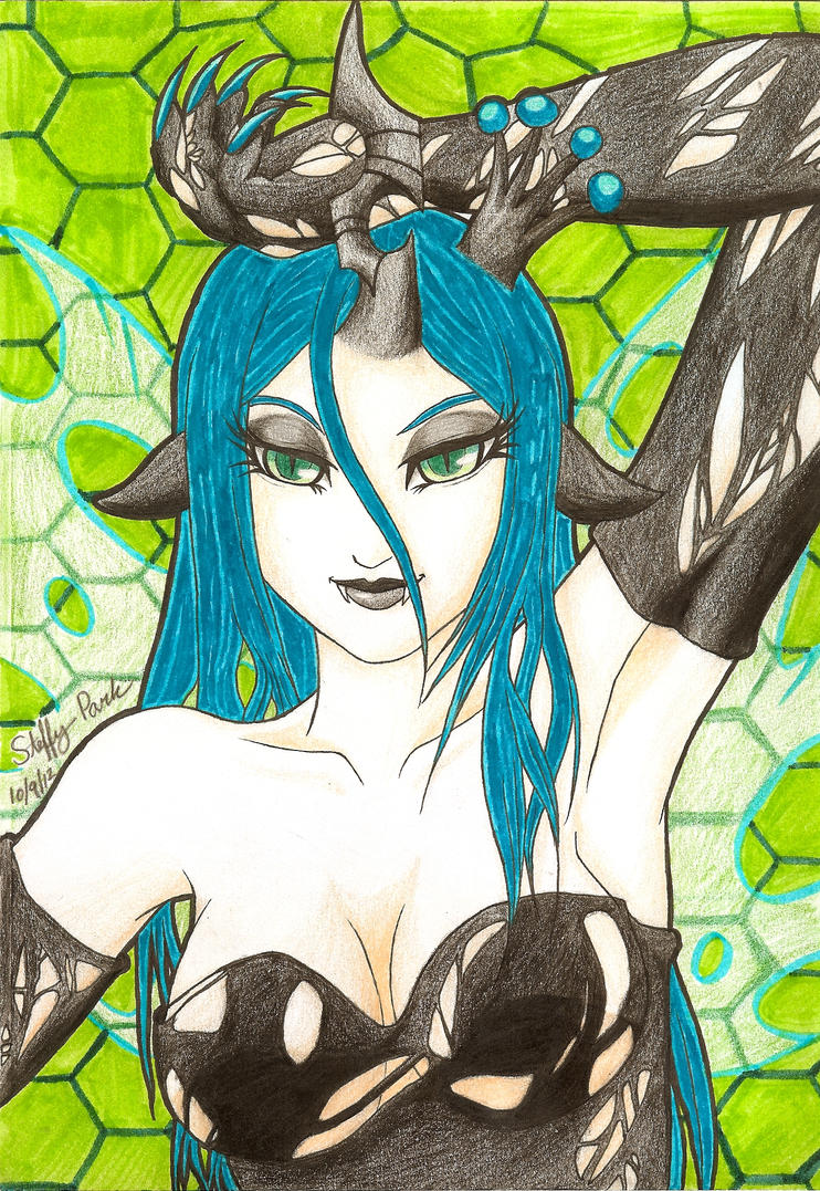 Humanized Queen Chrysalis by Namori-Kimbly
