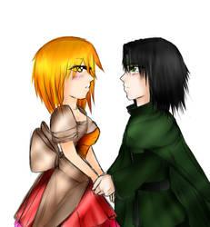 Miriny and Hideaki by Kiaein