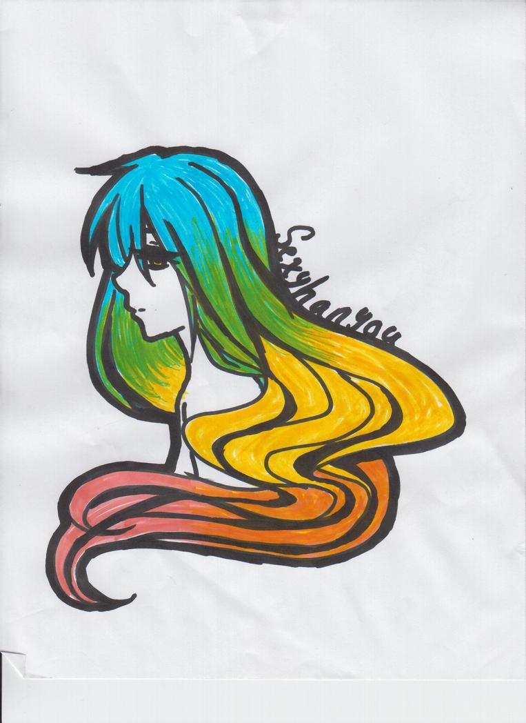 Highlighted Rainbow by sexyhanyou