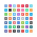 Free Bright Square Social Icons