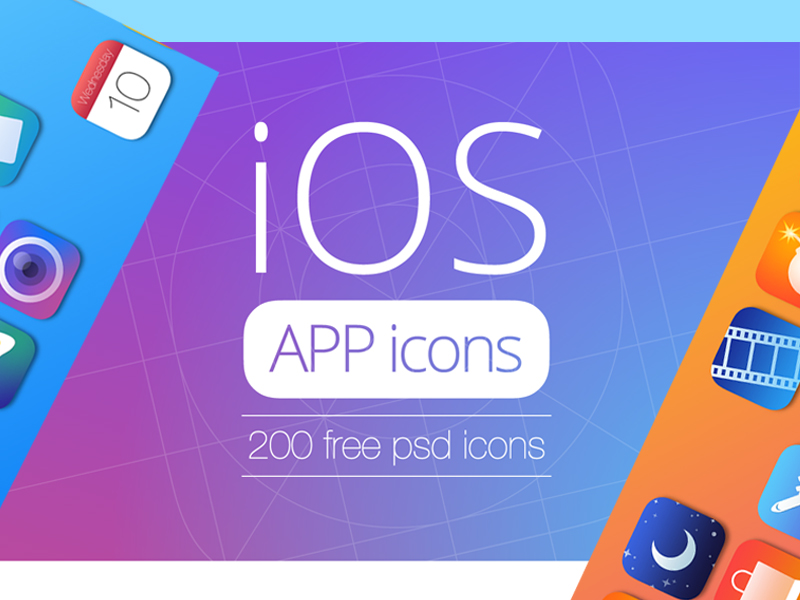 Free iOS App Icons by NaldzGraphics
