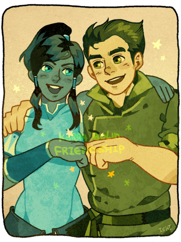 Korra and Bolin by freestarisis