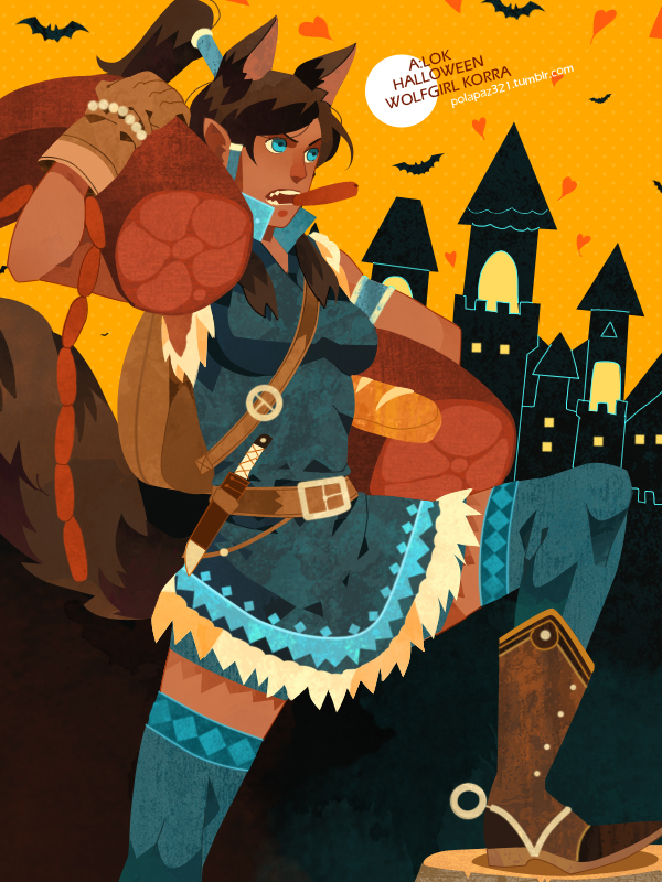 wolfgirl Korra by freestarisis