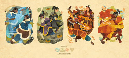 Korra and old friends with bending