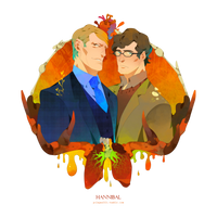 Hannibal and Will by freestarisis