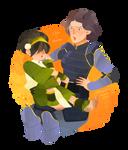 Lin and mama