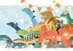 Dinosaur Toy Parade by freestarisis