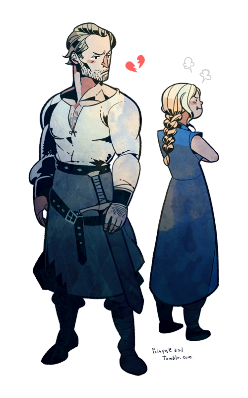 Jorah and Danny by freestarisis