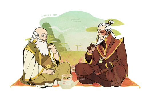 Visiting Uncle Iroh.