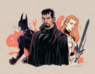 Batman X Superman X Wonderwoman by freestarisis