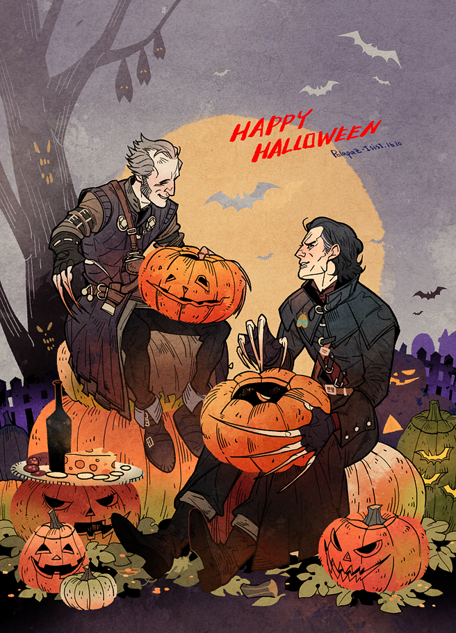 Witcher Vampires on Halloween. by freestarisis