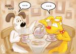Gromit and Brain Tea Time