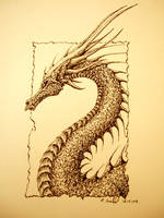 Ink dragon 1 by chaosia