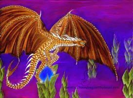 bronze dragon by chaosia